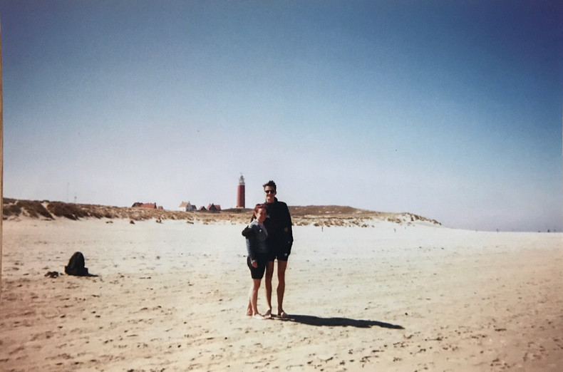 Me and my girlfriend on the island of Texel
